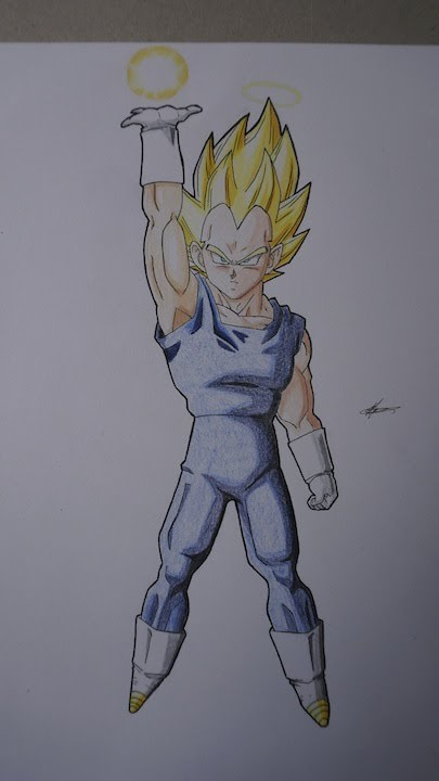 Dessin de v g ta ssj1 drawing vegeta ssj1 youtube - Dessin de vegeta ...