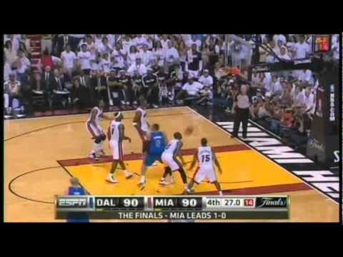 Dallas Mavericks Amazing Comeback vs the Heat - NBA Finals 2011 Game 2 (4th Quarter) Part 2 of 2