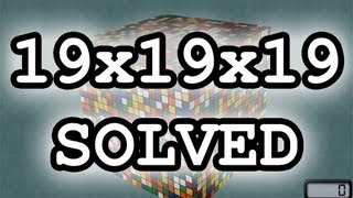 Rubik's Cube 19x19x19 Solve- 6 hours
