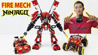 Mở Hộp Lego Ninjago 70615 Fire Mech Robot Samurai Lửa Của Kai