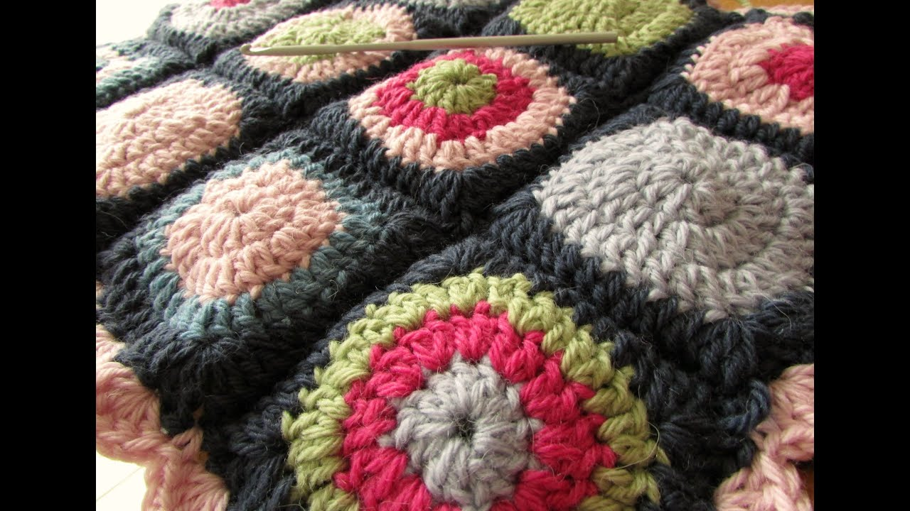 Crochet Join Stitch : How to join crochet granny squares - slip stitch method - YouTube
