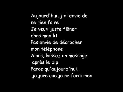 the lazy song french traduction