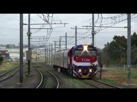 Diesel, EMU, and steam at Hoppers Crossing