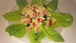 Полезный салат из сырой цветной капусты