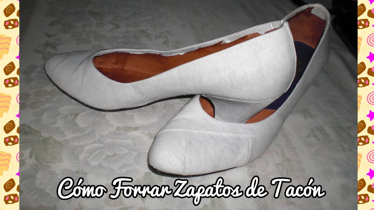 C mo forrar zapatos de tac n youtube - Ideas para decorar zapatos de nina ...