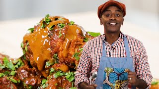 Fried Chicken With Chocolate Sauce As Made By Marcus Samuelsson • Proper Tasty