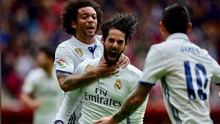 Sporting Gijon 2-3 Real Madrid | Goals | COPE | 2017