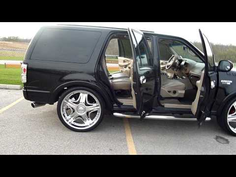 White Expedition With Black Rims >> Expedition on 26 inch rims - YouTube