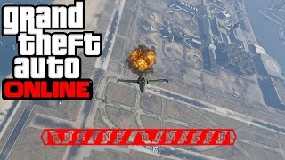 GTA 5 Online - Escaping from Missiles with Jet #1