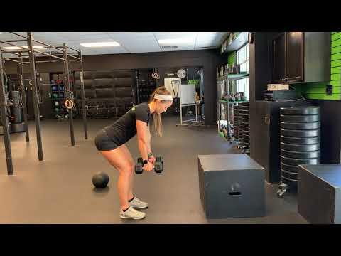 DB Alternating Arm Bent Over Row