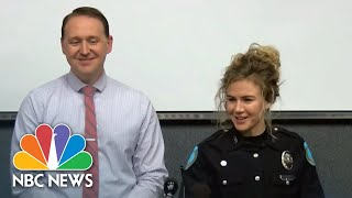 Newlywed Off-Duty Police Officers Stop Robbery At Restaurant | NBC Nightly News