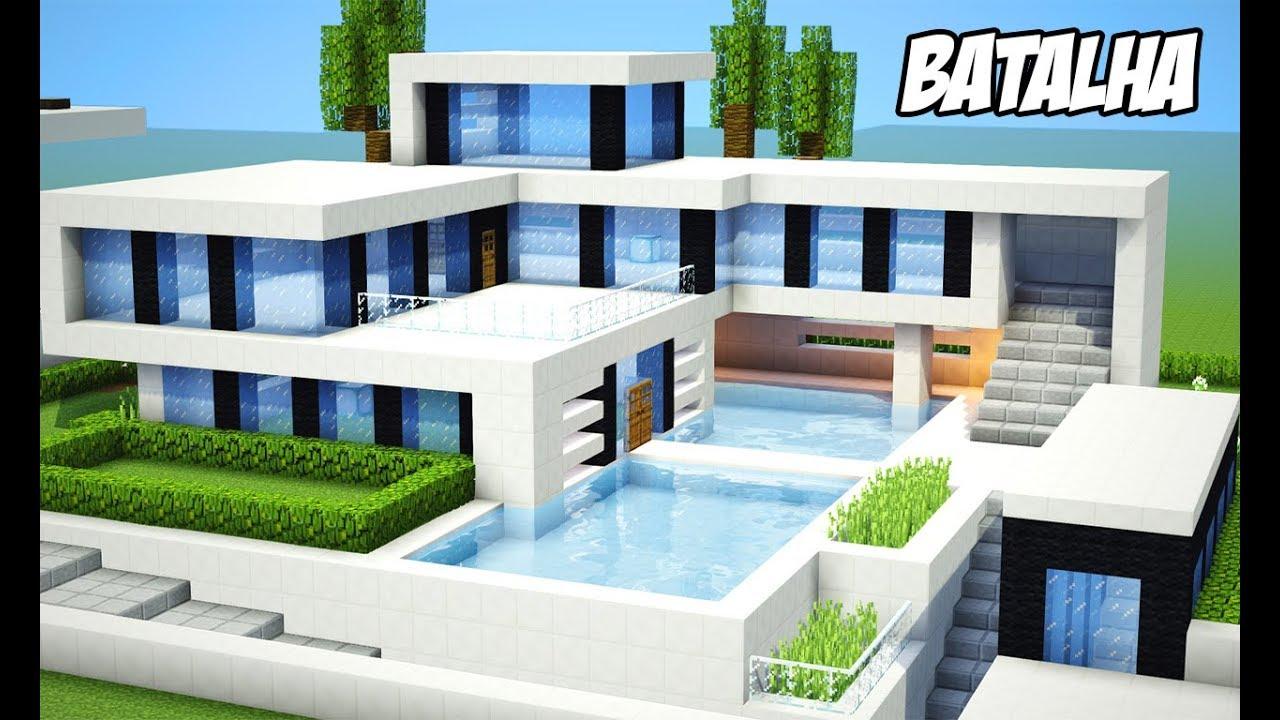 Minecraft batalha de casas modernas constru a minha for Minecraft videos casas