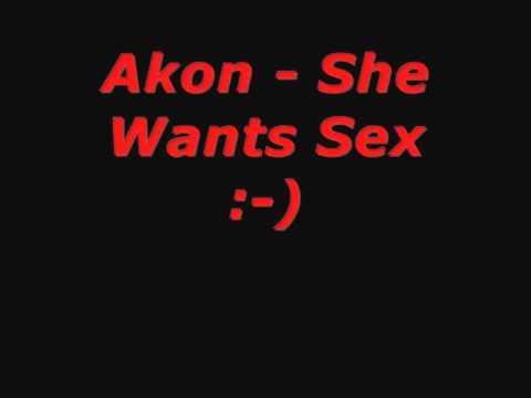 Akon - She Wants Sex (with lyrics)