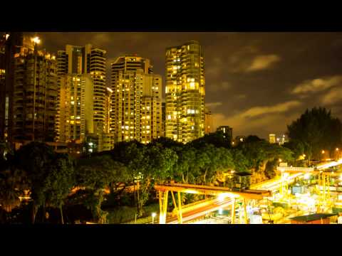 Singapore Day to Night Timelapse HD