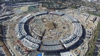 Apple's New Cupertino Campus Construction Shown in Drone Video