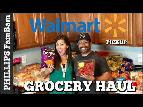MASSIVE WALMART GROCERY HAUL | LARGE FAMILY ONLINE PICKUP |