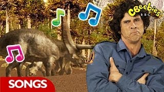 CBeebies - listen and sing along to Andy's Dinosaur rap. Visit CBee...
