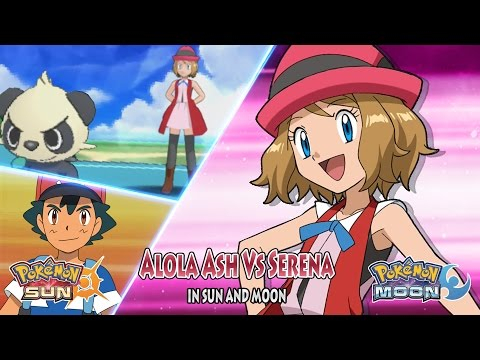 Pokemon Sun and Moon: Alola Ash Vs Serena XYZ (Amourshipping)