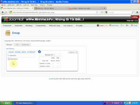 Hướng dẫn cài đặt Component Xmap để làm SiteMap trong Joomla 1.5 - By wWw.MinhHai.InFo