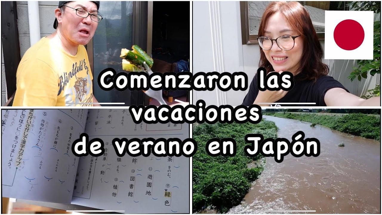 comenzaron las vacaciones de verano en Japon+tarea de Mauro,poca o mucha?