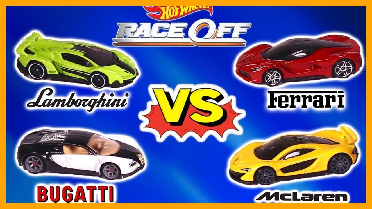 Lamborghini Vs Bugatti Vs Ferrari Vs Mclaren Race Youtube
