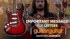 IMPORTANT MESSAGE for Lefties at Guitar Stores!