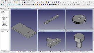 Freecad 0.15 (4527) Mechanical Drawing Th16a