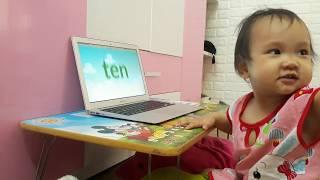 Nhật ký học tiếng Anh Monkey Junior của chị Đại 1 tuổi ngày 18-05-2019
