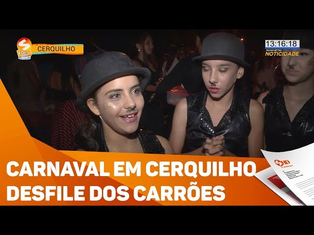 Carnaval em Cerquilho: desfile dos carrões - TV SOROCABA/SBT