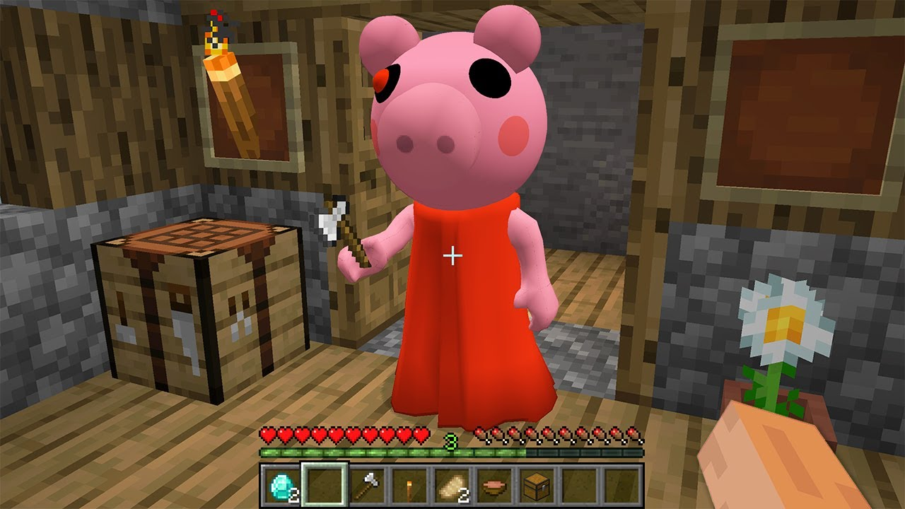 I FOUND SCARY PIGGY.EXE in MINECRAFT vs ROBLOX meme