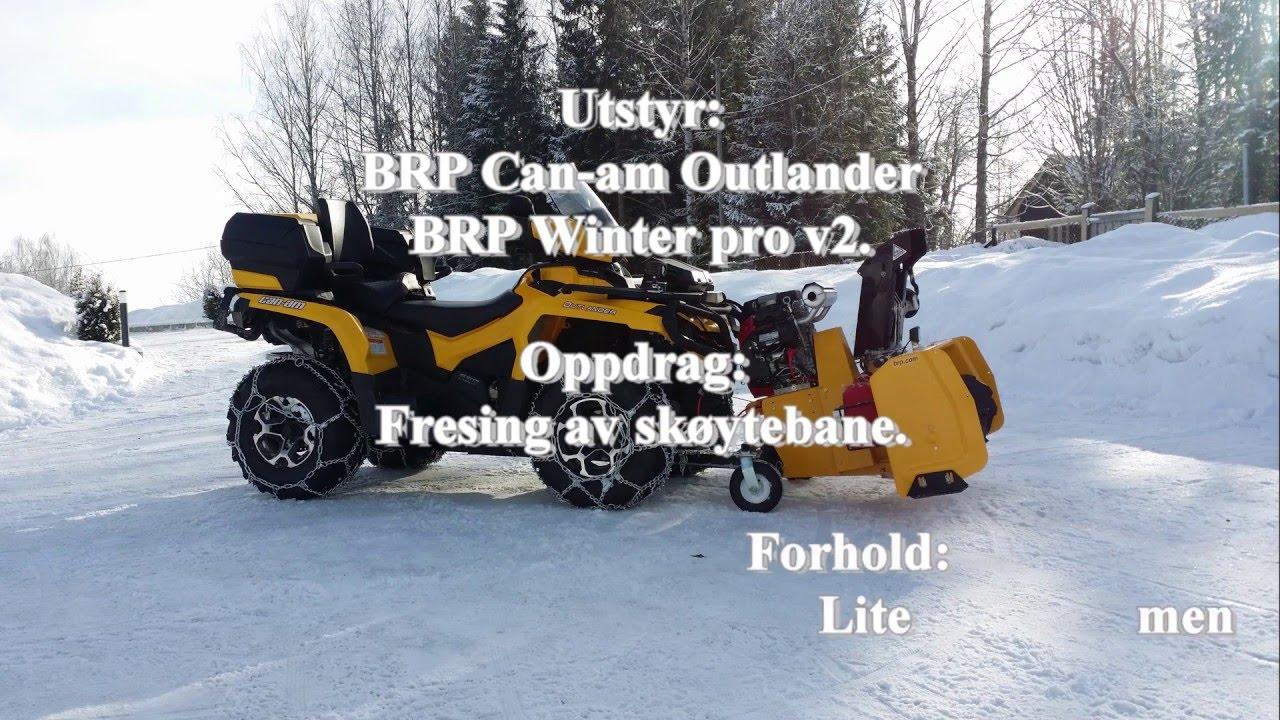 Brp Can Am 650 Outlander Og Brp Winter Pro V2 I Aksjon Youtube