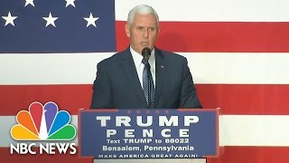Mike Pence Tells Supporters About FBI's Look Into New Hillary Clinton Emails | NBC News