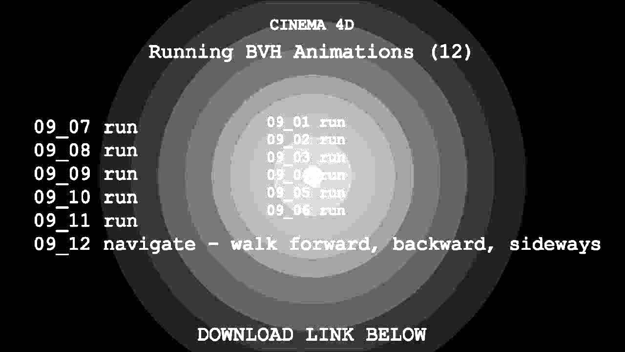 Running BVH Animations Download