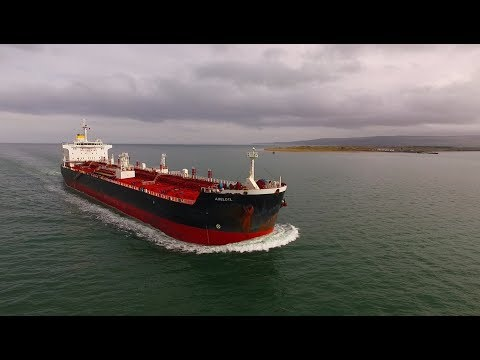 DJI Phantom 3 Advanced - Crude Oil Tanker AXELOTL On Lough Foyle
