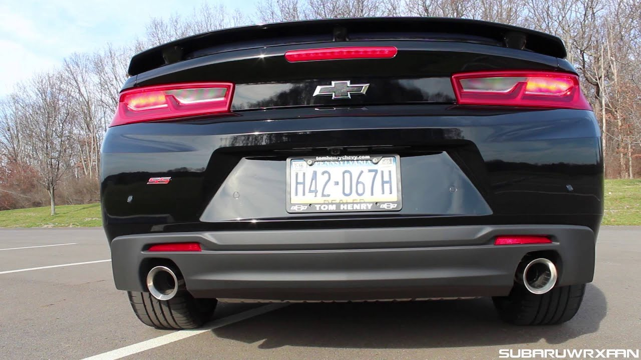 sound 2016 camaro ss with stock exhaust youtube. Black Bedroom Furniture Sets. Home Design Ideas