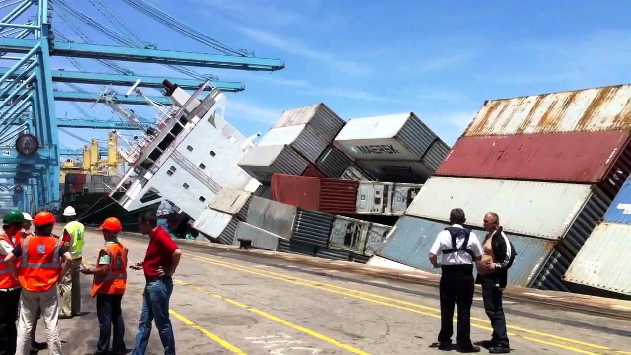 Barco escorado youtube - Contenedores de barco ...