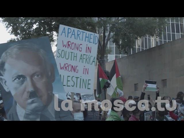 18-5-21 Concentració davant del consulat d'Israel per activistes pro Palestina [ contrainfos ]