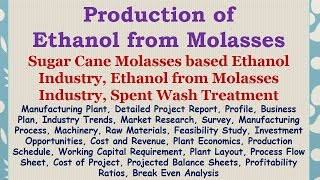 Production of Ethanol from Molasses, Sugar Cane Molasses based Ethanol Industry