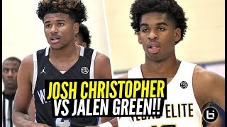 Josh Christopher vs Jalen Green!!! Cali Guards FACE OFF at Nike Peach Jam!!!