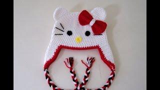 Hello Kitty Şapka Kenar Bağlama Örgü Yapılışı , Canım Anne