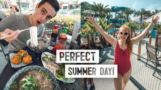 The PERFECT Summer Day in CALIFORNIA! - Delicious Food & Water Park (Buena Park)
