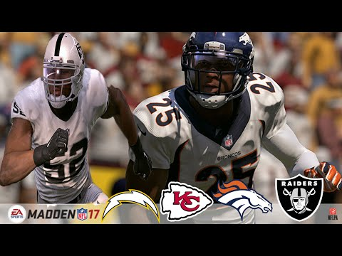 Official Madden 17 Ratings  |  Broncos, Chiefs, Chargers + Raiders