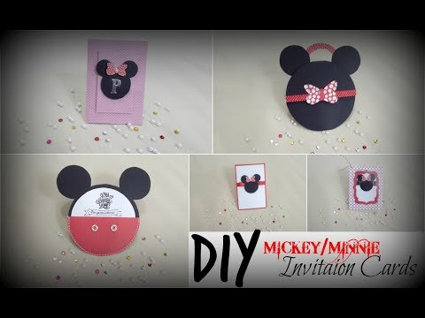 DIY Mickey/Minnie Invitation Cards | Praveen Kaur | DIY  Art and Craft Ideas