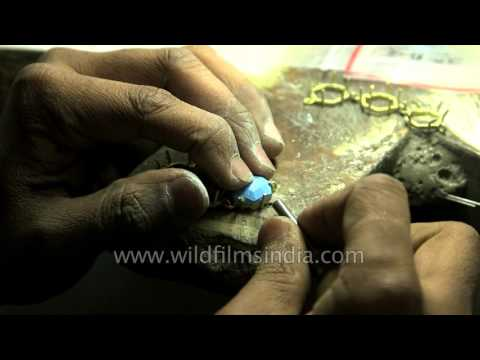 Jaipur is a big center for jewellery and semi-precious stones in India