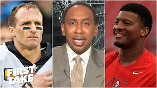 Jameis Winston will benefit from playing behind Drew Brees - Stephen A. | First Take