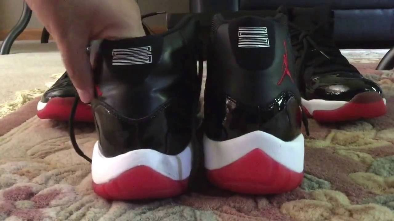 83beedc376f Quick ways to tell if your Jordan 11 Breds ARE FAKE!!!!! - YouTube