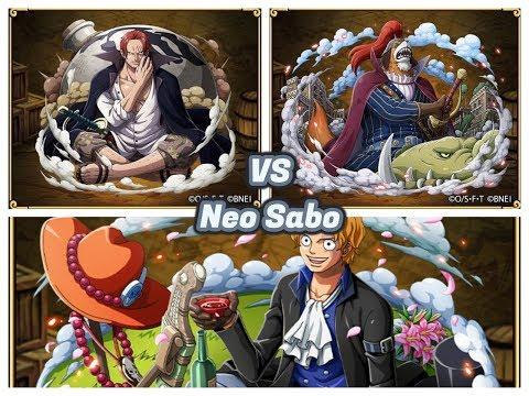 (OPTC) Neo Sabo Raid 60 sta VS Cerebral/Shanks/Inuarashi team