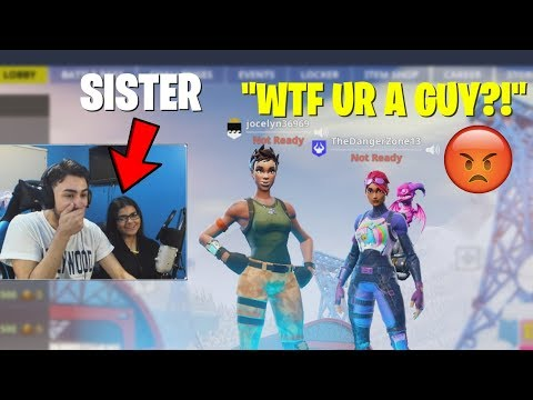 I used my SISTER to Catfish guys on Fortnite... (HE GOT PISSED) thumbnail