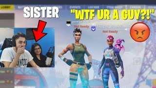 I used my SISTER to Catfish guys on Fortnite... (HE GOT PISSED)