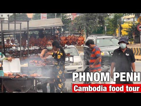 Phnom Penh street food | Cambodian food tour, Yummy Khmer food 2021